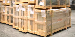 Packaging in wooden crates