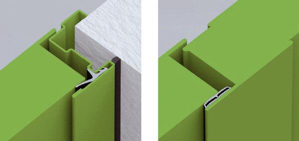 Porte REVER multi-usage à deux vantaux. Dormant standard, joints de fond de  feuillure c14b2f1a066